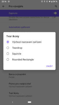 Android Q tvar ikony