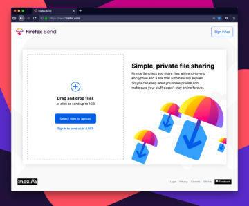 aplikace firefox send