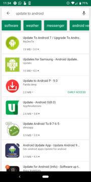 aplikace pro aktualizaci na novy android