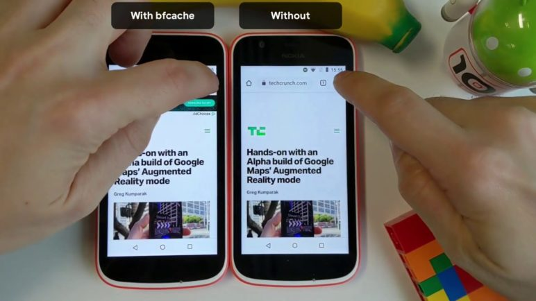 bfcache on Chrome for Android