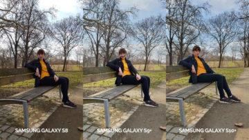 denni fototest Samsung galaxy s10 vs galaxy s9 vs s8 lavička žena