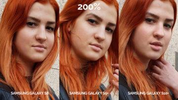 denni fototest Samsung galaxy s10 vs galaxy s9 vs s8 modelka detail