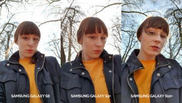 denni fototest Samsung galaxy s10 vs galaxy s9 vs s8 selfie žena