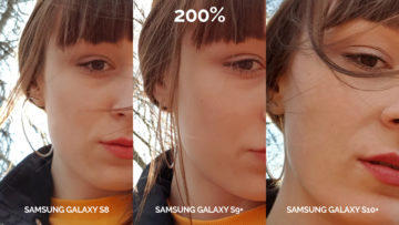 denni fototest Samsung galaxy s10 vs galaxy s9 vs s8 selfie žena detail