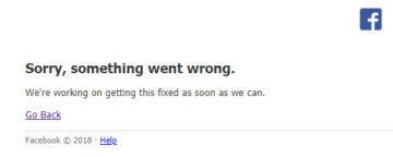 facebook chyba vypadek