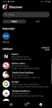 facebook messenger cerna barva dark