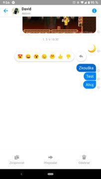 Facebook Messenger skupinové chaty