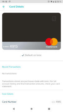 Fitbit Pay Revolut detaily ke kartě