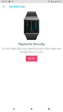 Fitbit Pay Revolut pin