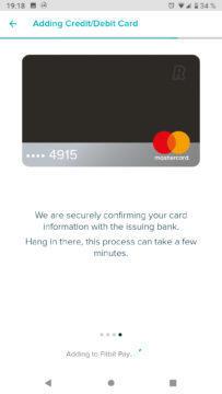 Fitbit Pay Revolut přidávání karty