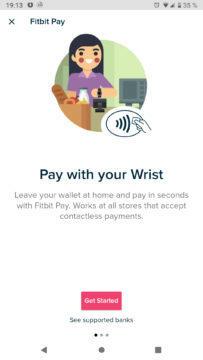 Fitbit Pay Revolut začátek nastavení karty