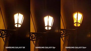 fototest Samsung galaxy s10 vs galaxy s9 vs s8 noční foto lampa