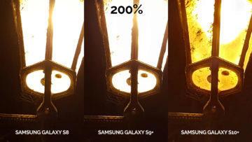 fototest Samsung galaxy s10 vs galaxy s9 vs s8 noční foto lampa detail