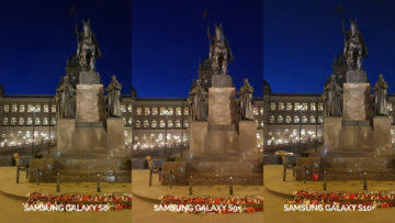fototest Samsung galaxy s10 vs galaxy s9 vs s8 noční fotografie