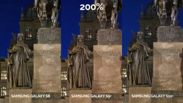 fototest Samsung galaxy s10 vs galaxy s9 vs s8 noční fotografie detail