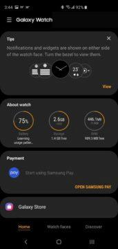 galaxy wearable chytre hodinky aplikace