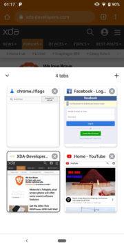 google chrome karty menu