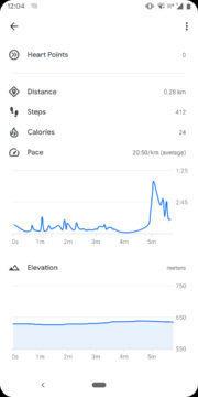 google fit nadmorska vyska