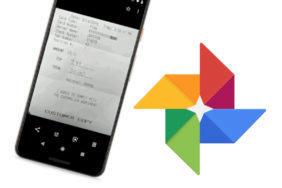 google fotky skenovani dokumentu uctenek