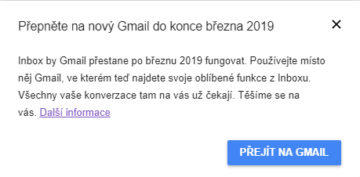 google inbox konec