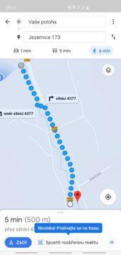 Google Mapy AR novinka