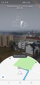 Google Mapy AR skenovani okolí