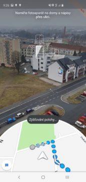 Google Mapy AR v rozšířené realitě