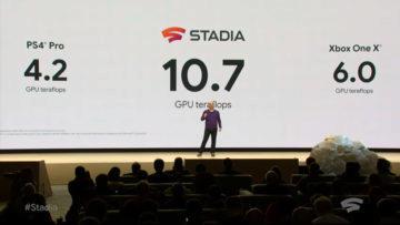 Google Stadia vykon