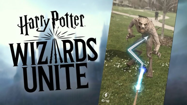 Harry Potter: Wizards Unite Gameplay (fighting a werewolf)