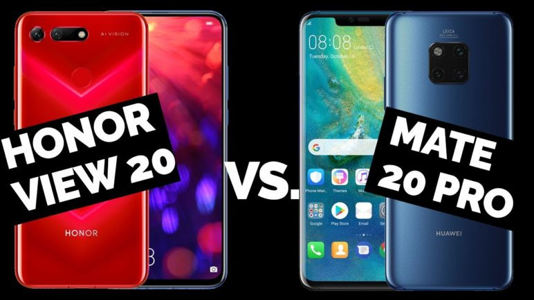 Honor View 20 vs Huawei Mate 20 Pro - Antutu Benchmark - SvetAndroida.cz