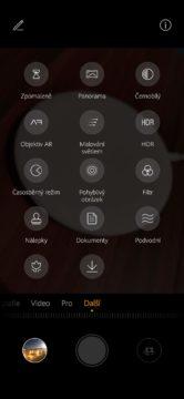 Huawei P30 Pro aplikace fotoaparátu rezimy