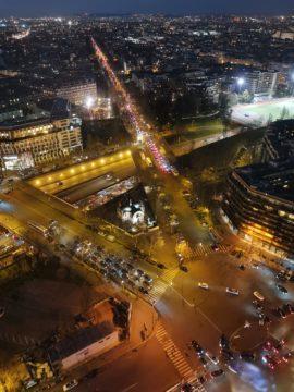 huawei p30 pro fotografie noční paříž ulice