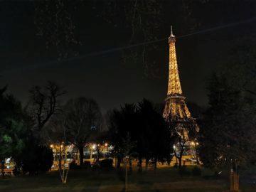 huawei p30 pro fotografie noční paříž věž