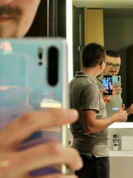 Huawei P30 Pro fotografie v zrcadle 5x