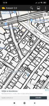 Katastrální mapy se ukážou po přiblížení