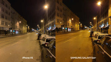 Noční foto test Galaxy S10 vs iPhone XS