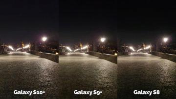 noční fotografie samsung galaxy s10 vs galaxy s9 vs galaxy s8 karlův most