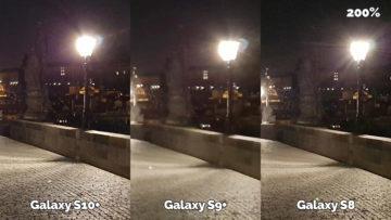 noční fotografie samsung galaxy s10 vs galaxy s9 vs galaxy s8 karlův most detail