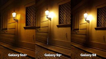 noční fotografie samsung galaxy s10 vs galaxy s9 vs galaxy s8 lampa