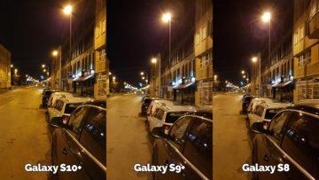 noční fotografie samsung galaxy s10 vs galaxy s9 vs galaxy s8 ulice