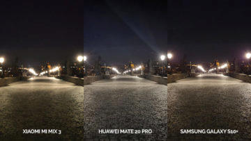 Noční fototest Samsung Galaxy S10+ vs Huawei Mate 20 Pro vs Xiaomi Mi Mix 3 karluv most