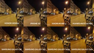Noční fototest samsung xiaomi huawei apple honor noční ulice