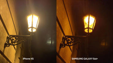 Noční lampa - fototest Galaxy S10 a iPhone XS