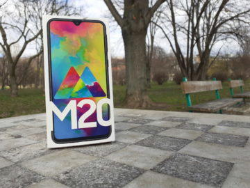 Samsung Galax M20 testovací fotografie rozmazane pozadi