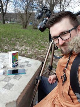 Samsung Galax M20 testovací fotografie selfie