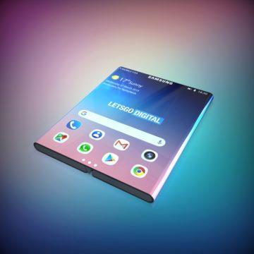 samsung galaxy fold 2 ohebny telefon displej