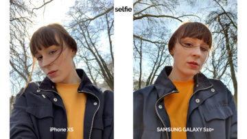 Selfie kamera z telefonu Samsung Galaxy S10 a iPhone XS