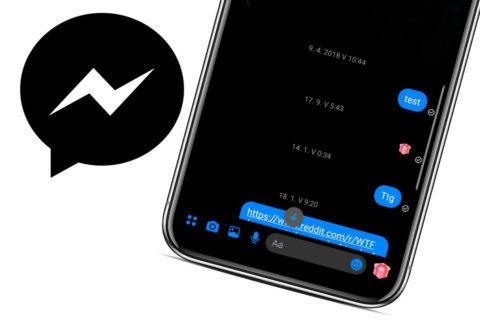 tmavy rezim facebook messenger