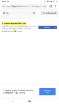 tmavý režim google chrome návod flags povolení