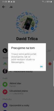 tmavy rezim upozorneni facebook messenger
